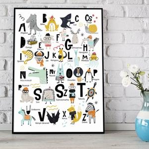 ABC állatos babaszoba poszter KERETTEL, abc szülinapi falidekor, Tanulókártya krokodil kenguru gyerekszoba dekoráció, Gyerek & játék, Gyerekszoba, Baba falikép, Otthon & lakás, Dekoráció, Képkeret, Fotó, grafika, rajz, illusztráció, Szeretitek az állatokat, főleg ha jó viccesen néznek ki? Kreatív fantáziával vagy megáldva vagy csak..., Meska