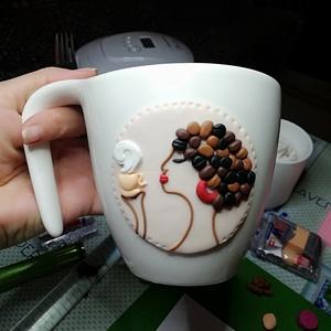 Csajos kávés bögre , Egyéb, Gyurma, Egyedi csajos bögre süthető ékszergyurmából. Mindennapi használatra alkalmas. , Meska