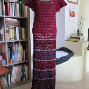 Horgolt női ruha, Ruha, Női ruha, Ruha & Divat, Horgolás, Meleg szín összeállítású ruhát készítettem nagyon kellemes tapintású fonalból. Mintája rugalmas anya..., Meska