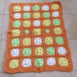 Zöld-sárga-narancs zsenília baba takaró, Gyerek & játék, Gyerekszoba, Falvédő, takaró, Otthon & lakás, Lakberendezés, Lakástextil, Takaró, ágytakaró, Táska, Divat & Szépség, Ruha, divat, Gyerekruha, Baba (0-1év), Horgolás, Finom zsenília fonalból horgoltam ezt a meleg színű baba takarót.\nMérete 65x95 cm., Meska