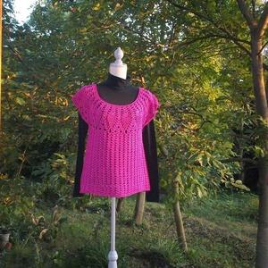 Ananászos mintás pink női blúz, Ruha & Divat, Blúz, Női ruha, Horgolás, Meska
