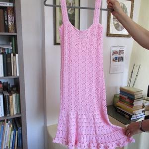 Horgolt rózsaszínű női ruha, Ruha, Női ruha, Ruha & Divat, Horgolás, Finom mikrofiber fonalból horgoltam ezt a csinos ruhát.\nMérete 36-38, Meska