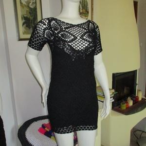 Fekete csipke rövid ruha - Meska.hu