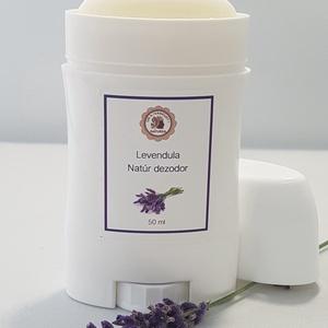 Levendula természetes dezodor, Szépségápolás, Dezodor & Parfüm, Kozmetikum készítés, 100%ban természetes, aluminium mentes kellemes levendula illatú kézműves dezodor. \n\nGátolja a kellem..., Meska