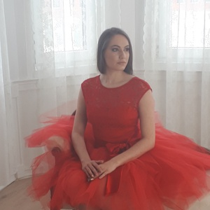 Nelli  piros csipkebody (Naybel) - Meska.hu