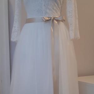 Csipketüll menyasszonyi ruha, Táska, Divat & Szépség, Ruha, divat, Női ruha, Esküvő, Menyasszonyi ruha, Esküvői ruha, Varrás, Csipke body hosszú tüllszoknyával.\nMéretre készül. L méret felett modosúl az ár., Meska