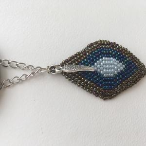 Kék bronz levél o bag táskadísz (NayraDesign) - Meska.hu