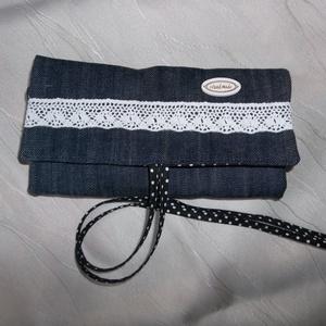 Textil ékszertartó farmer (NBibi) - Meska.hu