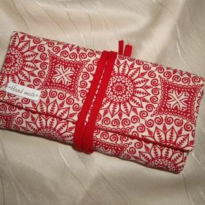 Textil ékszertartó piros-fehér (NBibi) - Meska.hu