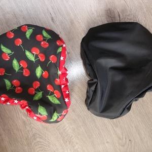 Kifordítom-befordítom bicikli nyereghuzat cseresznye, Biciklis táska, Biciklis & Sporttáska, Táska & Tok, Varrás, Jó időben, esőben, mindig kerékpáron!\nEnnek a szuper üléshuzatnak az egyik oldala fekete vízhatlan a..., Meska