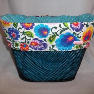 Kerékpár kosárhuzat és táska 2in1 színes virágok kosártáska, Biciklis táska, Biciklis & Sporttáska, Táska & Tok, Varrás, Vibráló színeivel felvidítja a szívet és a lelket!\n\nEz a gyönyörű kosártáska dekoratív része lehet a..., Meska