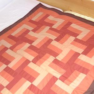 Ősz színei patchwork ágytakaró - LEÁRAZTAM!!, Otthon & Lakás, Takaró, Lakástextil, Patchwork, foltvarrás, Meska