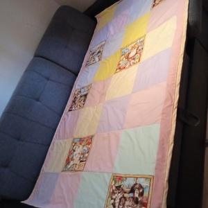 Cicás patchwork ágytakaró, Otthon & Lakás, Lakástextil, Ágytakaró, Patchwork, foltvarrás, Meska