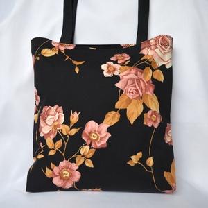 Mályva Rózsás Szatyor, Táska, Divat & Szépség, Táska, Válltáska, oldaltáska, Szatyor, Varrás, Hétköznap is lehetsz szép! Könnyű és romantikus szatyor rózsaimádóknak. (A virágok eltérő helyen is ..., Meska