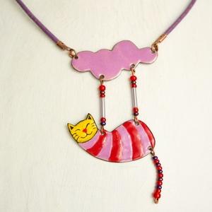 Rose, cicás nyaklánc, macskás medál, macskás nyaklánc (Neki) - Meska.hu