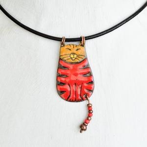 Alex a macska, cicás nyaklánc, macskás medál (Neki) - Meska.hu
