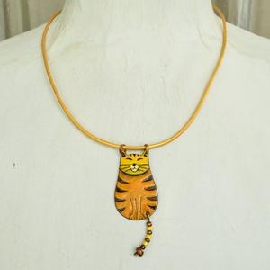 Misi a macska, cicás nyaklánc, macskás medál (Neki) - Meska.hu