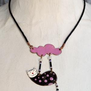 Pötyi, cicás nyaklánc, macskás medál, macskás nyaklánc (Neki) - Meska.hu
