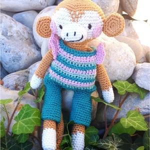 Lupita a horgolt majmocska, Majom, Plüssállat & Játékfigura, Játék & Gyerek, Horgolás, Kézzel és szívvel készített horgolt öltöztethető majmocska! \n\n100 % pamut, minőségi catania fonallal..., Meska