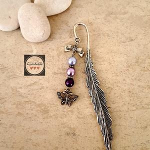 Könyvjelző - pillangó, Ékszer, Ékszerkészítés, 12 cm-es egyedi pillangós  könyvjelző , Meska