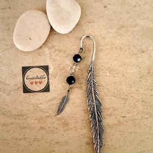 Könyvjelző - madártoll, Ékszer, Ékszerkészítés, 12 cm-es egyedi madártollal önyvjelző , Meska