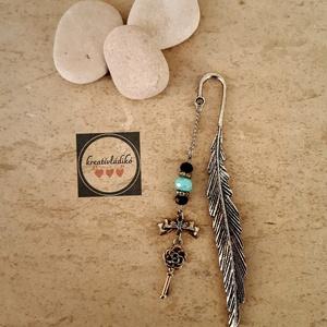 Könyvjelző - kulcd, Ékszer, Ékszerkészítés, 12 cm-es egyedi kulcsos könyvjelző , Meska