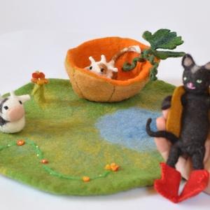 Iciri-piciri mese ökröcske csizmás kandúr fél tök kreatív mese nemez figurák nyílt végű egyedi játék báb  , Játék, Gyerek & játék, Báb, Játékfigura, Készségfejlesztő játék, Baba-és bábkészítés, Nemezelés, Iciri-piciri mesét mindenki ismeri, most itt a lehetőség a szereplőit kézbe is vegyétek!\nTermészetes..., Meska