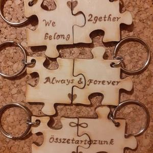 Faégetéssel díszített páros kulcstartó, Táska & Tok, Kulcstartó & Táskadísz, Kulcstartó, Gravírozás, pirográfia, Meska