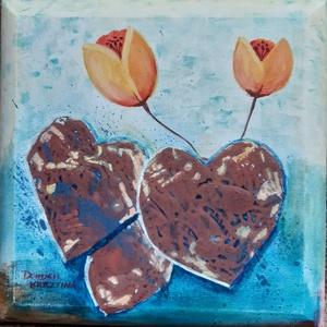 Szárba szökkent szeretet, akril festmény , Művészet, Festmény, Festmény vegyes technika, Festészet, Meska