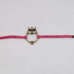 Baglyos karkötő (rózsaszín) (Nesi) - Meska.hu
