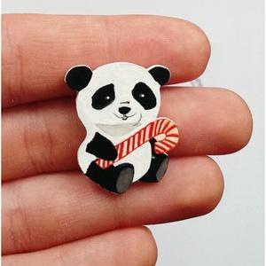Panda Cukorpálcával Rajzolt Bross (Neverland) - Meska.hu