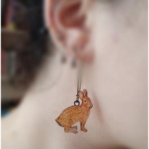 Nyuszika - fülbevaló rajzolt nyuszival (Neverland) - Meska.hu