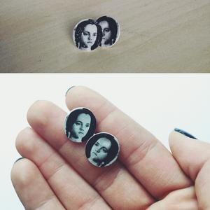 Wednesday Addams - Addams Family pici bedugós fülbevaló (Neverland) - Meska.hu