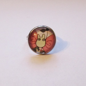 Totoro gyűrű (Neverland) - Meska.hu