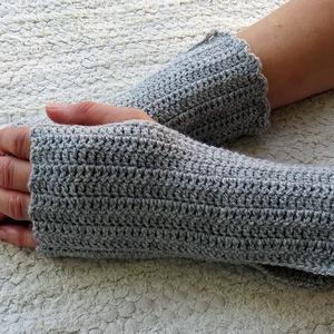 Nyane- kézmelegítő. S-M méretű. Meleg, puha és elegáns csipkemintás horgolt kézmelegítő/ ujjatlan kesztyű (ChristieHomemade) - Meska.hu