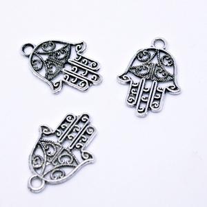 Tibeti ezüst Fatima keze #1398, Gyöngy, ékszerkellék, Egyéb alkatrész, Ékszerkészítés, Alkotók boltja