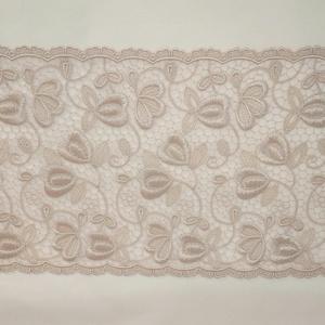 Csipke, Textil, Varrás, 120 x 20,5 cm bézs színű hímzett zsinórozott szélcsipke., Meska