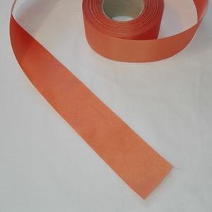 Szatén szalag, Textil, Szalag, pánt, Varrás, Mindenmás, Narancs sárga szatén szalag.\n5 cm vastagságú, Meska