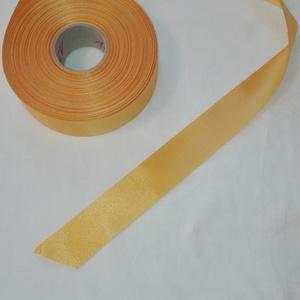 Szatén szalag, Textil, Szalag, pánt, Varrás, Mindenmás, Sárga színű szatén szalag.\n4 cm vastagságú, Meska