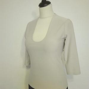 Jersey bézs felső , Ruha & Divat, Női ruha, Póló, felső, Bézs színű  rugalmas jersey felsőrész háromnegyedes ujjal,mellnél dupla anyaggal.  Mérete:38-as Hoss..., Meska
