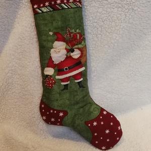 Nagy mikulás zsák, Mikulás csizma, Karácsony, Ajándékzsák, Varrás, Nagy mikulás zsák. Örök darab!\nNem egy vékony zsákról van szó! Van külön bélése és plusz flíz\nMosógé..., Meska