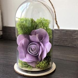 Örökrózsa felakasztható műanyag burában, Dekoráció, Otthon & lakás, Dísz, Szerelmeseknek, Ünnepi dekoráció, Lakberendezés, Virágkötés, A tökéletes ajándékot keresed? Nincs még ötleted? Olyan virágot szeretnél, mely örökké tart?\n\nHa val..., Meska