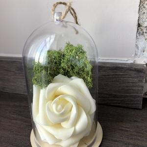 Örökrózsa felakasztható műanyag búrában , Dekoráció, Otthon & lakás, Dísz, Szerelmeseknek, Ünnepi dekoráció, Lakberendezés, Virágkötés, A tökéletes ajándékot keresed? Nincs még ötleted? Olyan virágot szeretnél, mely örökké tart?\n\nHa val..., Meska
