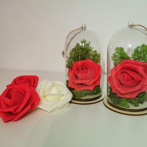 Örökrózsa felakasztható műanyag búrában, Otthon & Lakás, Csokor & Virágdísz, Dekoráció, Virágkötés, Meska