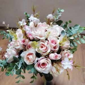 Mini rózsás menyasszonyi örökcsokor, Esküvő, Menyasszonyi- és dobócsokor, Virágkötés, Meska