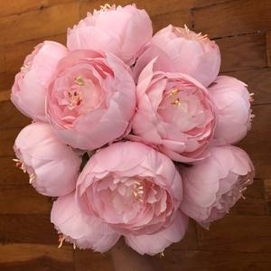 Rózsaszín bazsarózsás menyasszonyi örökcsokor, Esküvő, Menyasszonyi- és dobócsokor, Virágkötés, Meska