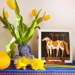 Sárga foltos kanca // illusztráció, Művészet, Grafika & Illusztráció, Festészet, digitális print 220 grammos Rives Laid natúr fehér papíron\nméret 21 x 21 cm\nszignózott , Meska