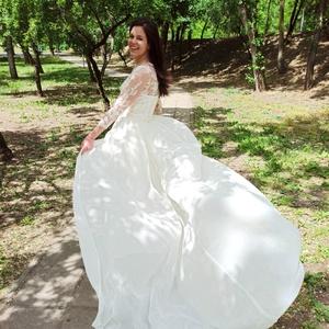 Menyasszonyi ruha uszály, Ezt a pillanatok alatt, egyszerűen levehető menyasszonyi uszályt a saját esküvőmre terveztem és kész..., Meska
