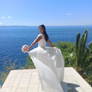 Tengerparti esküvő szett, Esküvő, Esküvői dekoráció, Menyasszonyi ruha, Varrás, Tengerparti esküvőhöz álmodtam meg ezt a könnyed, légies szettet, pamutból, csipkéből és muszlinból...., Meska