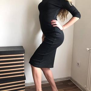 """Fekete elasztikus garbós ruha, Gyerek & játék, Táska, Divat & Szépség, Női ruha, Ruha, divat, Ruha, Varrás, Fekete,garbós testre  simuló nagyon elasztikus \n\"""" kis \"""" fekete ruha.Nyaka visszahajtható. Vastag any..., Meska"""